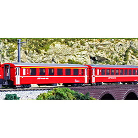 [鉄道模型]カトー 【再生産】(Nゲージ) 10-1413 アルプスの赤い客車 Ew I 4両基本セット