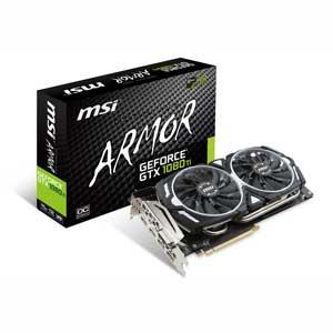 GTX1080TIARMOR 11GOC MSI PCI-Express 3.0 x16対応 グラフィックスボードMSI GeForce GTX 1080 Ti ARMOR 11G OC [GTX1080TIARMOR11GOC]【返品種別B】