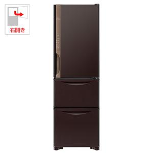 R-K320HV-TD 日立 315L 3ドア冷蔵庫(ダークブラウン)【右開き】 HITACHI まんなか野菜タイプ [RK320HVTD]【返品種別A】(標準設置料込)