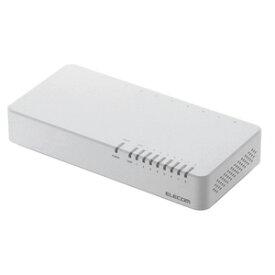 EHC-F08PN-JW エレコム 100BASE-TX対応 スイッチングハブ 8ポート (ホワイト) [プラスチック筐体/電源内蔵]EHC-FXXPNシリーズ