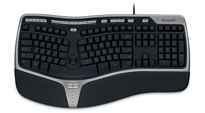 B2M-00029 マイクロソフト ナチュラル エルゴノミック キーボード 4000 日本語109キー Microsoft Natural Ergonomic Keyboard 4000 [B2M00029]【返品種別A】
