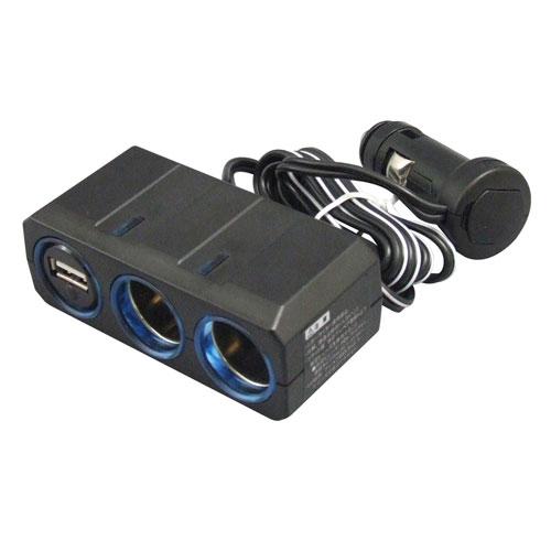 CE-383 ヤック USB付き2連ソケット 24/12V対応 YAC [CE383]【返品種別A】