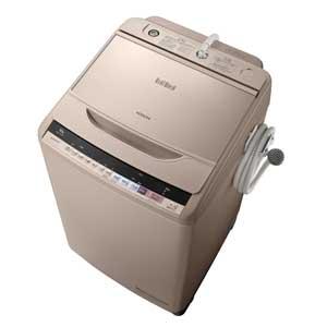 BW-V100B-N 日立 10.0kg 全自動洗濯機 シャンパン HITACHI ビートウォッシュ [BWV100BN]【返品種別A】(標準設置料込)