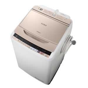 BW-V90B-N 日立 9.0kg 全自動洗濯機 シャンパン HITACHI ビートウォッシュ [BWV90BN]【返品種別A】(標準設置料込)