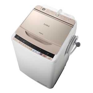 BW-V80B-N 日立 8.0kg 全自動洗濯機 シャンパン HITACHI ビートウォッシュ [BWV80BN]【返品種別A】(標準設置料込)