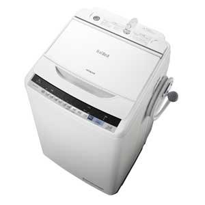 BW-V80B-W 日立 8.0kg 全自動洗濯機 ホワイト HITACHI ビートウォッシュ [BWV80BW]【返品種別A】(標準設置料込)
