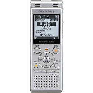 V-862-SLV オリンパス 4GBメモリ内蔵+外部マイクロSDスロット搭載ICレコーダー(シルバー) OLYMPUS Voice-Trek