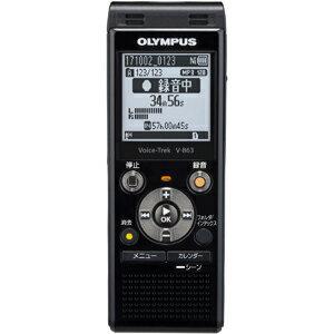 V-863-BLK オリンパス 8GBメモリ内蔵+外部マイクロSDスロット搭載ICレコーダー(ピアノブラック) OLYMPUS Voice-Trek [V863BLK]【返品種別A】