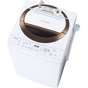 (標準設置料込)AW-6D6-T 東芝 6.0kg 全自動洗濯機 ブラウン TOSHIBA ZABOON [AW6D6T]【返品種別A】