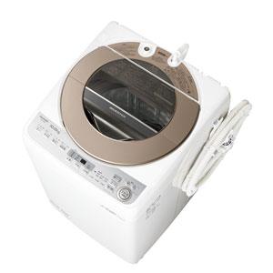ES-GV10B-T シャープ 10.0kg 全自動洗濯機 ブラウン系 SHARP 穴なし槽 [ESGV10BT]【返品種別A】(標準設置料込)