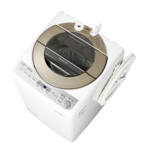 ES-GV9B-N シャープ 9.0kg 全自動洗濯機 ゴールド系 SHARP 穴なし槽 [ESGV9BN]【返品種別A】(標準設置料込)
