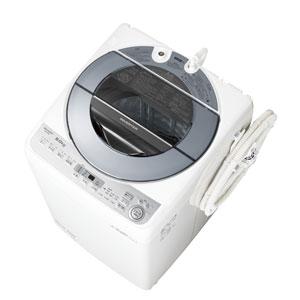 ES-GV8B-S シャープ 8.0kg 全自動洗濯機 シルバー系 SHARP 穴なし槽 [ESGV8BS]【返品種別A】(標準設置料込)