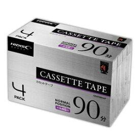 HDAT90N4P HIDISC 90分 ノーマルテープ 4本パック ハイディスク