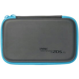 【New2DS LL】スリムハードポーチ for Newニンテンドー2DS LL(ブラック×ターコイズ) ホリ [2DS-108 スリムハードポーチ ターコイズ]