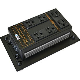 NXP-001SE-CHROM 中村製作所 電源タップ(出力アナログ用・デジタル用 合計7口)《クロームメッキ・サイドパネル》【受注生産品】 NS 《電源雑音軽減機(床据置型)》