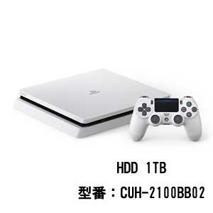 【特典付】PlayStation 4 グレイシャー・ホワイト 1TB【お一人様一台限り】 ソニー・インタラクティブエンタテインメント [CUH-2100BB02 PS4ホワイト1TB]【返品種別B】【送料無料】