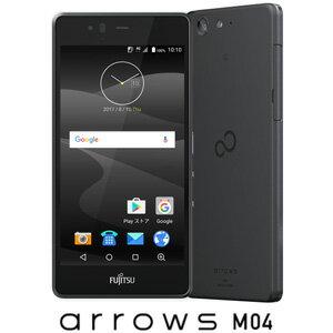 FARM06303(M04ブラツク) 富士通 SIMフリースマートフォン arrows M04 ブラック [FARM06303M04ブラツク]【返品種別B】