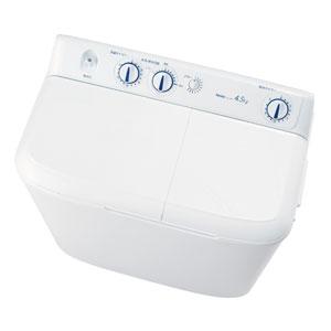 (標準設置料込)【500円クーポン10/20 23:59迄】JW-W45E-W ハイアール 4.5kg 2槽式洗濯機 ホワイト Haier