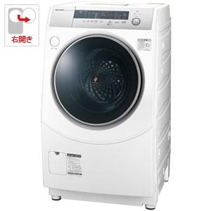 ES-H10B-WR シャープ 10.0kg ドラム式洗濯乾燥機【右開き】 ホワイト系 SHARP [ESH10BWR]【返品種別A】(標準設置料込)