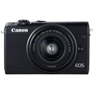 EOSM100BK-1545LK キヤノン ミラーレスカメラ「EOS M100」EF-M15-45 IS STMレンズキット(ブラック) [EOSM100BK1545LK]【返品種別A】