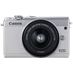 EOSM100WH-1545LK キヤノン ミラーレスカメラ「EOS M100」EF-M15-45 IS STMレンズキット(ホワイト) [EOSM100WH1545LK]【返品種別A】
