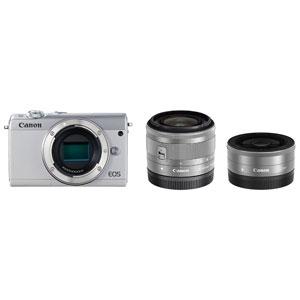 EOSM100WH-WLK キヤノン ミラーレス一眼カメラ「EOS M100」ダブルレンズキット(ホワイト) Canon