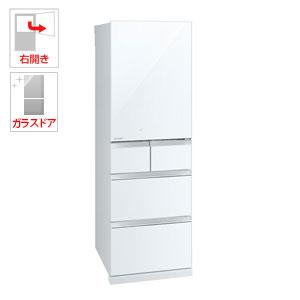 (標準設置料込)MR-B46C-W 三菱 455L 5ドア冷蔵庫(クリスタルピュアホワイト)【右開き】 MITSUBISHI 置けるスマート大容量 Bシリーズ