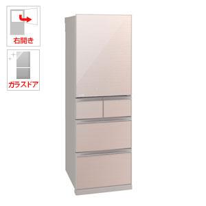 (標準設置料込)MR-B46C-F 三菱 455L 5ドア冷蔵庫(クリスタルフローラル)【右開き】 MITSUBISHI 置けるスマート大容量 Bシリーズ [MRB46CF]【返品種別A】