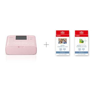 CP1300CPRINTKIT(PK) キヤノン コンパクトフォトプリンター(ピンク)+ カードプリントキット SELPHY [CP1300CPRINTKITPK]【返品種別A】