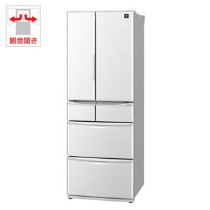 SJ-P461D-H シャープ 455L 6ドア冷蔵庫(グレー系) SHARP プラズマクラスター冷蔵庫 [SJP461DH]【返品種別A】(標準設置料込)