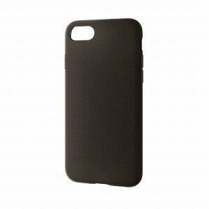 PM-A17MSCBK エレコム iPhone 8/ 7用 シリコンケース(ブラック)