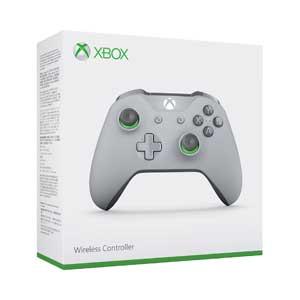 【Xbox One】Xbox ワイヤレス コントローラー(グレー/グリーン) マイクロソフト [WL3-00062 XboxコントローラーGG]【返品種別B】【送料無料】