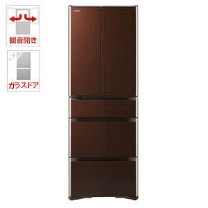 R-XG4300H-XT 日立 430L 6ドア冷蔵庫(クリスタルブラウン) HITACHI [RXG4300HXT]【返品種別A】(標準設置料込)