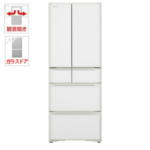 R-GS5100H-XW 日立 505L 6ドア冷蔵庫(クリスタルホワイト) HITACHI [RGS5100HXW]【返品種別A】(標準設置料込)