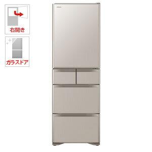 R-S4000H-XN 日立 401L 5ドア冷蔵庫(クリスタルシャンパン)【右開き】 HITACHI [RS4000HXN]【返品種別A】(標準設置料込)