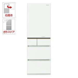 NR-E413PV-W パナソニック 406L 5ドア冷蔵庫(スノーホワイト)【右開き】 Panasonic エコナビ [NRE413PVW]【返品種別A】(標準設置料込)