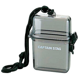 M-9358 キャプテンスタッグ 防水クリアケース (クリアブラック) CAPTAIN STAG