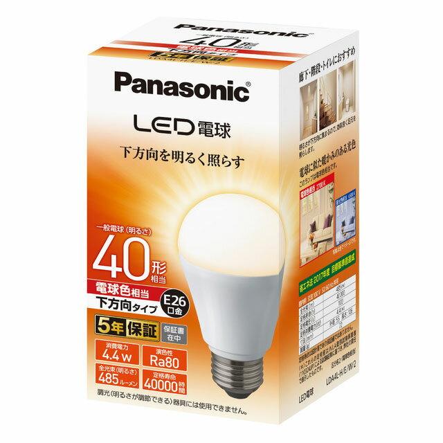 LDA4LHEW2 パナソニック LED電球 一般電球形 485lm(電球色相当) Panasonic