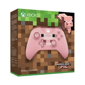 【Xbox One】Xbox ワイヤレス コントローラー(Minecraft Pig) マイクロソフト [WL3-00054 Xboxコントローラーマインクラフトpig]