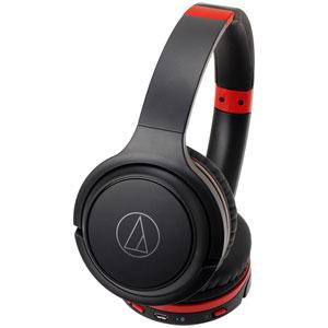 ATH-S200BT BRD オーディオテクニカ Bluetooth対応ワイヤレスヘッドホン(ブラックレッド) audio-technica