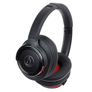 ATH-WS660BT BRD オーディオテクニカ Bluetooth対応ワイヤレスヘッドホン(ブラックレッド) audio-technica