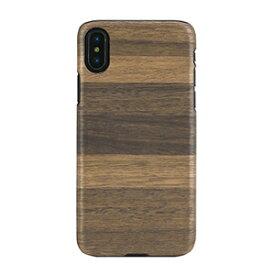 I10472I8 Man&Wood iPhone XS/X用 天然木ハードケース ブラックフレーム(FANGO)