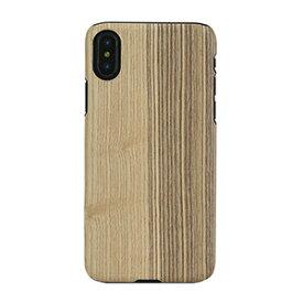 I10473I8 Man&Wood iPhone XS/X用 天然木ハードケース ブラックフレーム(VINTAGE OLIVE)