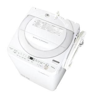 (標準設置料込)ES-GE7B-W シャープ 7.0kg 全自動洗濯機 ホワイト系 SHARP 穴なし槽 [ESGE7BW]【返品種別A】
