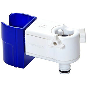 NJC-01 グリーンライフ ノズルホルダー付き蛇口コネクター (ブルー)