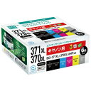 ECI-C371XL-6P エコリカ キヤノン用 BCI-371XL+370XL/6MP 互換 リサイクルインクカートリッジ(6色パック)