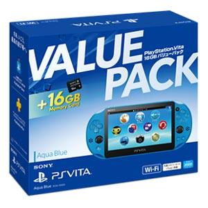PlayStation(R)Vita 16GB バリューパック アクア・ブルー【お一人様一台限り】 ソニー・インタラクティブエンタテインメント [PCHJ-10033 PSVホンタイバリューブルー]【返品種別B】【送料無料】