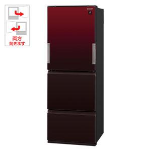 SJ-GW36D-R シャープ 356L 3ドア冷蔵庫(グラデーションレッド) SHARP どっちもドア [SJGW36DR]【返品種別A】