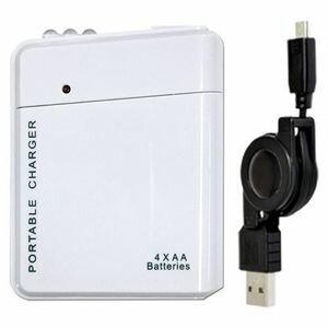 USBDP2M-WH JTT USB電池パック 2 microUSBケーブルセット(ホワイト) [USBDP2MWH]【返品種別A】