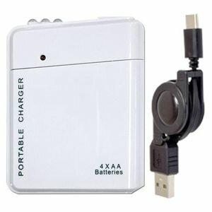 USBDP2C-WH JTT USB電池パック 2 USB-Type-Cケーブルセット(ホワイト) [USBDP2CWH]【返品種別A】